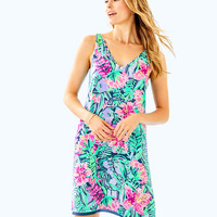 FLORIN REVERSIBLE SLEEVELESS V-NECK DRESS