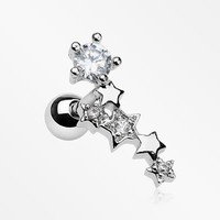 Star Fall Sparkle Cartilage Tragus Barbell
