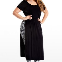 Plus Size Solid Side-Split Maxi Dress | Fashion To Figure