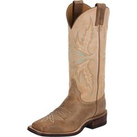 Women's Justin Bent Rail Arizona Mocha Cowhide-13in Camel Top Cowgirl Boots