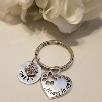 Sympathy, Pet loss, Memorial, Personalized, Hand stamped, Pet loss, Pet jewelry