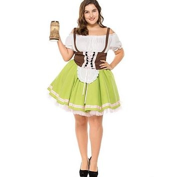 Oktoberfest Women Halloween Party Beer Festival French Maid Costume