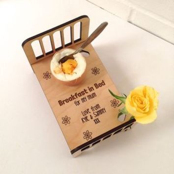 Personalised Breakfast In Bed Egg Cup