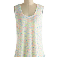 ModCloth Neon Mid-length Tank top (2 thick straps) Let Sparks Fly Top