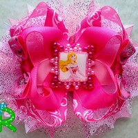 Sleeping Beauty Hair Bow , Ott  Princess Bow , Layered Disney hair bow , Stacked boutique Bow