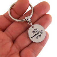 Namastay in bed keychain, namaste funny quote, namast'ay in bed, namaste keychain, quote keychain, funny gifts, best friends gift, gifts
