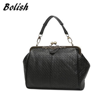 Bolish New Arrive Knitting Retro Clip Women's Handbag Vintage Women Messenger Bag Fashion Women CrossBody Bag
