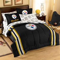"Pittsburgh Steelers NFL Embroidered Comforter Twin/Full (64 x 86"")"