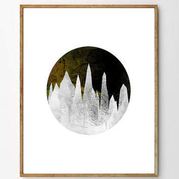 Crystal Cave - Fine Art Giclee Print, nature art, watercolor painting