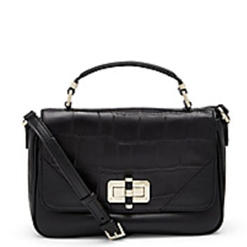 DVF 440 Gallery Transit Mini Croc Crossbody Bag