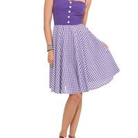 Hell Bunny Purple Gingham Saturday Party Dress | Hot Topic