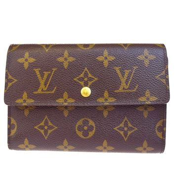 Auth LOUIS VUITTON Tresor Trifold Wallet Purse Monogram Leather M61202 09B1958