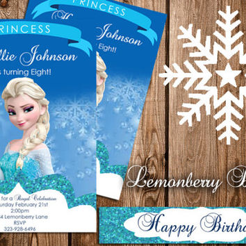 Elsa Frozen Invitations 4x6 Glossy walgreens picture paper. With envelopes. See Description.