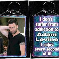 "Maroon 5 Adam Levine ""suffer from addiction enjoy every second of it""  keychain"