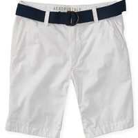 Aeropostale  Belted Classic Flat-Front Shorts