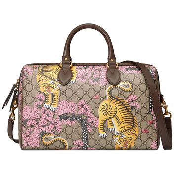 Gucci Women's GG Supreme Bengal Boston 409527