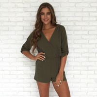 Finesse Romper In Olive