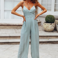 Right From The Start Jumpsuit Olive