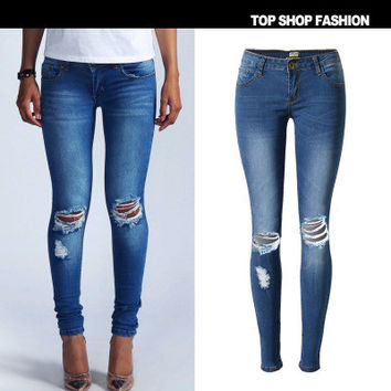 Women Slim Jeans Jeans Denims Trousers Pants _ 1114