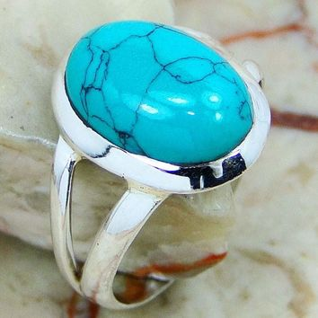 Solid 925 Silver Turquoise Ring Designs