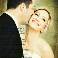 Wedding Photo First Dance Song Lyrics Anniversary Photo Art Custom Photo Editing