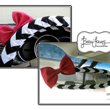 The Original Custom Steering Wheel Cover and Mirror Cover with Matching Bow