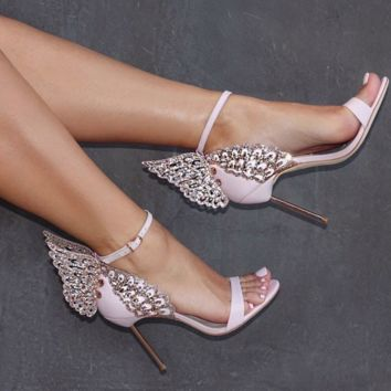 Tropez Pink Angel Wing Sandals