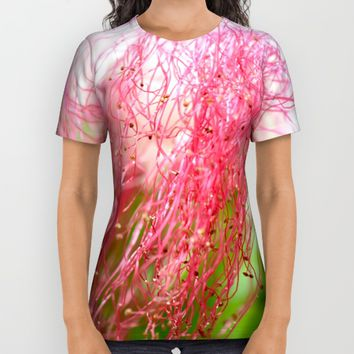 Pink Costa Rican Flower All Over Print Shirt by UMe Images