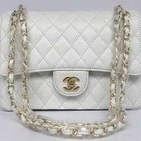 Chanel Coco Vintage Bag Sheepskin White With Chain Gold Chanel Coco Bags,bolsas Chanel,Chanel discount handbags [CH044] - $149.00 : Welcome to okshoesbar.com