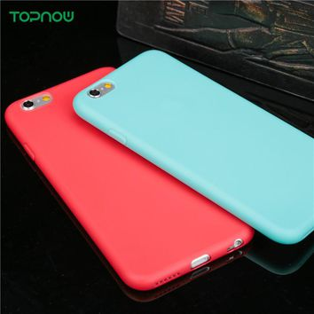 Beautiful Candy color ultra thin Soft TPU Phone Cases for iPhone 6 6S 6Plus 6sPlus 7 7Plus 5 SE 5S 8 8Plus X coque protect cover