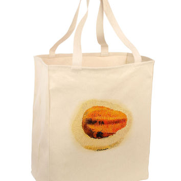 Trilobite Fossil Watercolor Large Grocery Tote Bag