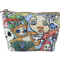 Creative And Vintage Flower Canvas Cosmetic Bags/Purse