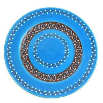 Round Plate - Azure Blue - Mexican Pottery
