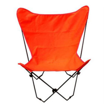 Algoma Net Company 405349 Black Butterfly Chair with Orange Cover