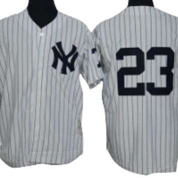KUYOU New York Yankees Jersey - Don Mattingly Throwback Jerseys