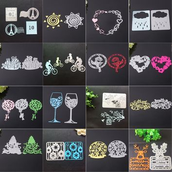 New Merry Christmas Metal Cutting Dies Stencils Scrapbooking Embossing DIY Crafts Carbon Steel Decor !.