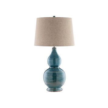 99784 - Harriett Turquoise Blue Table Lamp - Free Shipping!