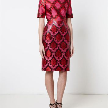 MARY KATRANTZOU | Fitted Brocade Dress | brownsfashion.com | The Finest Edit of Luxury Fashion | Clothes, Shoes, Bags and Accessories for Men & Women