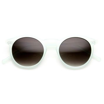 Cute Pastel Color Round P3 Key Hole Retro Womens Sunglasses 8928