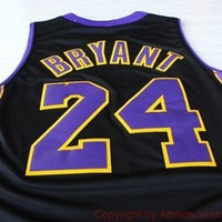Kobe Bryant Lakers 24 Los Angeles NBA Basketball Jersey La Kobe Bryant Lakers