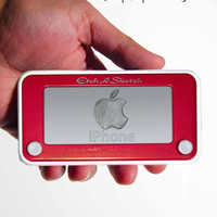 iphone 4 4s case Etch a Sketch design personalized with your custom design.