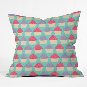 Allyson Johnson Cutest Cupcakes Throw Pillow