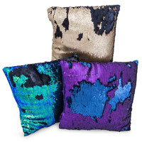 matte sequin pillow 14in x 14in | Five Below