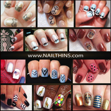 Nail Decals sale NAILTHINS Nail Designs Nail Wrap