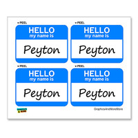Peyton Hello My Name Is - Sheet of 4 Stickers