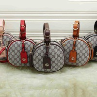 GUCCI Bucket bag Hot Sale Round Type Color Edge Handbag Zipper Bag B-MYJSY-BB Six Color
