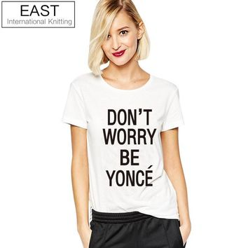 EAST KNITTING Beyonce T Shirt  Casual Plus Size