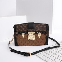 LV Louis Vuitton WOMEN'S MONOGRAM CANVAS Trunk INCLINED SHOULDER BAG