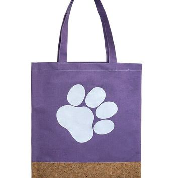 Two Material Paw Print Tote Bag Accessory 63