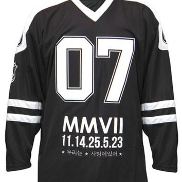 Knyew - Black Knyew Hockey Jersey - , Collection, Knyew, Sweaters & Crewnecks, T-Shirts, Sweaters & Crewnecks, T-Shirts, - KNYEW Clothing Boutique